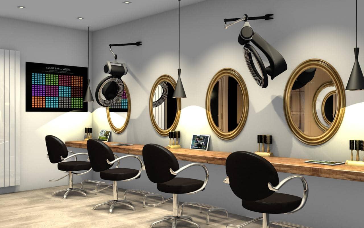 Quelques conseils pour r ussir la d coration int rieure d 39 un salon de coiffure - Amenagement salon de coiffure ...